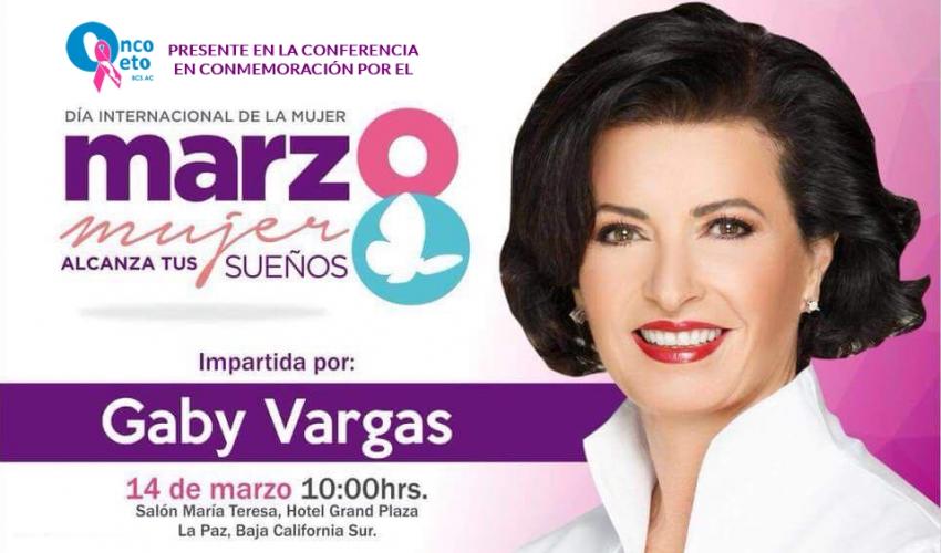 Conferencia por el Día Internacional de la Mujer por Gaby Vargas