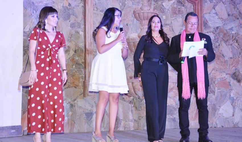 Participación de la Dra. Mariana Juárez durante nuestra 11va. Pasarela Onco Reto 2018