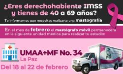 Si tienes entre 40 y 69 años necesitas realizarte una mastografía