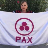Entrega de la Bandera de la Paz por el Club de Mujeres Profesionistas y de Negocios de La Paz, A. C