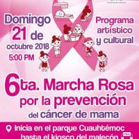 6ta. Marcha Rosa por la prevención del cáncer de mama